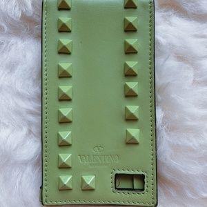 Valentino Apple green leather Rockstud iPhone 4